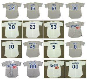 1981 Vintage jerseys 55 OREL Hershiser 2 Lasorda 23 KIRK GIBSON 38 ERIC GAGNE 34 FERNANDO VALENZUELA 16 HIDEO NOMO 32 Sandy Koufax béisbol