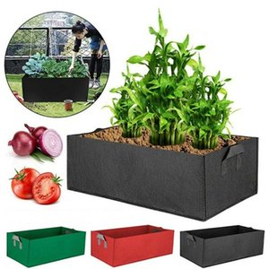 Reusable Fabric Raised Garden Bed Square Grow Bag Flower Vegetable Strawberry Planter Pot Pocket Pouch with Handles