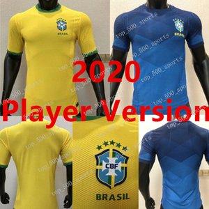 2020 Player version Brazil Copa America Home away Yellow Soccer Jersey 20 21 #11 P.COUTINHO soccer shirt #12 MARCELO Football Uniforms