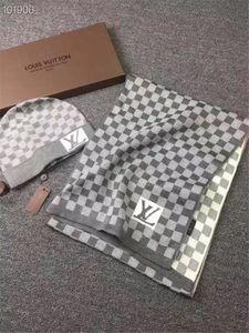 Top-Qualität Mens Schal-Hut Anzug für den Winter Designer Mann 100% Wolle Scarvers viele lange Schals Hut Sets 6 Farbe schnelles Schiff