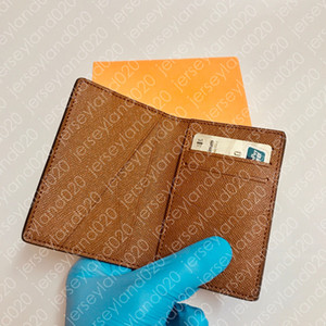 محفظة مدمجة مفتاح M60502 مصمم N63143 بطاقة قصيرة عملة متعددة الجيب المنظم حامل قماش فاخر دميه الجرافيت أزياء رجالية كووف