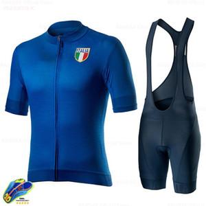 Tour De ITALIA 2020 Men Clothing Cycling Clothes Kits Summer Short Sleeve Bib Shorts Quick-dry Racing Set Italy