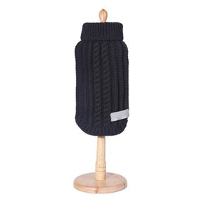 High Collar Woolen Knitwear Sweater Dog Clothes Coat Straw-Rope Pet Dog Sweater Knit Apparel Pet Winter Wool Sweater