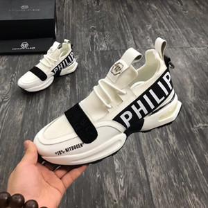 Los hombres de los zapatos casuales de alta calidad de los hombres del cráneo pp zapatos de cuero-001 020425 deportes de los hombres
