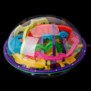 New 299 Barriers 3D Magic Think Ball Balance Metze Game Glub Globe Toy Kid Gift Y200413