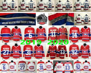 Homem Mulher Kids Youth Montreal Canadiens Jerseys # 6 Shea Weber 11 Brendan Gallagher 13 Max Domi 27 Alex Galchenyuk 92 Drouin 31 Carey Price