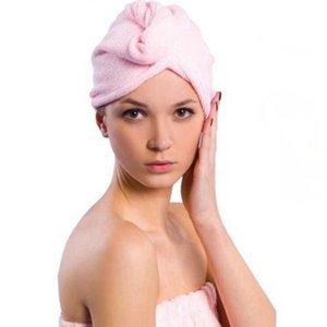 Toalla de microfibra de secado de pelo 4 colores de pelo Toalla Cap Turban de secado rápido absorbente Ducha mágica del casquillo de toallas de baño OOA7660