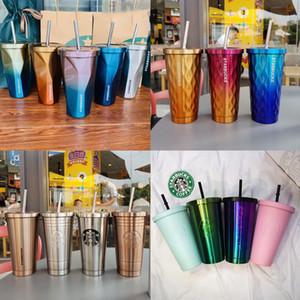 2019 Art und Weise neue Starbucks Edelstahlbecher Saugnapf Göttin Becher kreative Kaffeetasse Diamant Gradienten