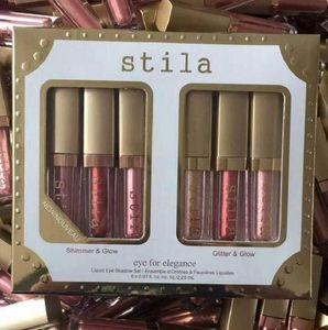 6 Colors Stila Eye For Elegance Makeup Limited Edition Liquid Eyeshadow Set Cosmetics Earth color Eyeshadow Makeup set