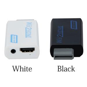 1000 pcs usine grossiste Wii au HUB Adaptateur Convertisseur 3.5mm Audio Wii2HDMI Adaptateur De Sortie Vidéo pour HDTV Moniteur Support 720P 1080P
