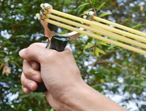 Мощные охотничьи Slingshot Sling Shot алюминиевого сплава резинок рогатки мощный запястье стали Sling Shot рогатки катапульты