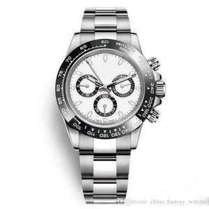 Luxus-Mann-Uhr-Keramik-Lünette Art und Weise weißes Zifferblatt Armband Faltschließe Männlich All 3 Dials Arbeit Full Function Armbanduhr Tag Uhr