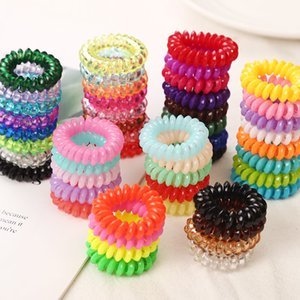 10PCS lot 2cm Small Telephone Line Hair Ropes Girls Colorful Elastic Hair Bands Kid Ponytail Holder Tie Gum Hair Accessories