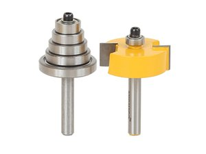 Rabbet Router Bit with 6 Bearings Set -1 2