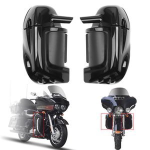 Areyourshop Motorcycle Lower Vented Leg Fairings Glove Box For Harley Touring Road Street Glide 1983-2013 ABS Plastic Black