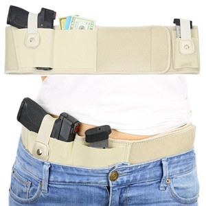 Neoprene Belt Leather Holster Furtivo Carry Pistol Gun Bag Pouch Tactical Khaki exterior Caça cintura Holster
