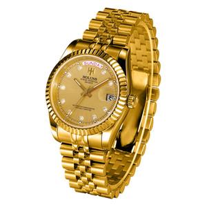 роскошные мужские часы с автоматическим заводом робот 2020 holuns нержавеющая сталь золото стальной пояс супер яркий специальный роскошный максимальный циферблат скелет BRW