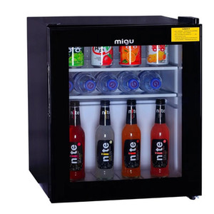 Mini Compact Refrigerator,mini freezer,minibar,mini fridge 1.7 Cubic Feet, Black, tempered glass door