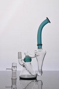 Newest Dual Bubble Glass Bongs 2 Function Dab Rigs Glass Water Pipes Smoking Pipe water glass Bong Hookahs with 14 mm male joint