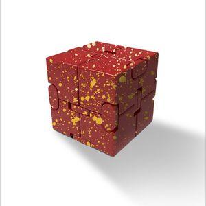 alliage d'aluminium étoile modèle de couleur rivet couverture de cube magique illimité anxiété cure bloc cube jouet à pression réduite à chaud