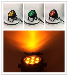 6 adet Par Led 7x12w RGBW Led Açık UPLIGHT Led Sahne Işık Par 64