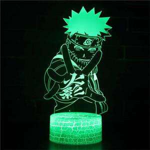Naruto Night Light - 3D Illusion лампы Три Pattern и 7 Изменение цвета Наруто LED ночник с пультом дистанционного управления для Детей Подарки для мальчиков