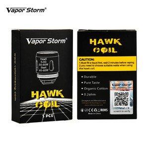 Original Vapor Tempestade Hawk Bobinas 0.2ohm Algodão Orgânico Durável Bobinas de Substituição De Gosto Pura para Hawk Tanque 3 unidades / pacote E cigarros