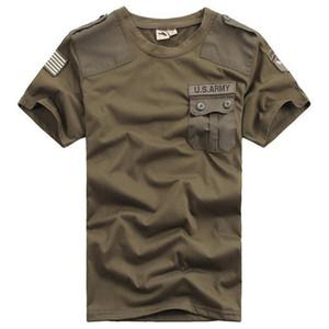 Мужчины Tactical футболка армии свободного солдат Bomber волокно военного короткий рукав Топы хлопок дышащего Quick Dry тройники