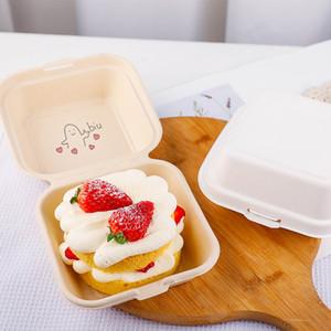 Wegwerfnahrungsmittelverpackungskästen Convenient DIY zum Mitnehmen Container für Restaurant Fast Food Hamburger Kuchen Verpackung Box