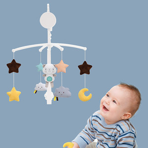 Rattles Baby Toys Crib Mobile To Bed Toddler Holder Clockwork Music Box Bed Bell Toy Bear Handmade Mobile Toys For Children SMT CJ191216