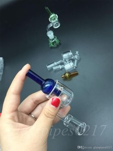 hot sale Set of 2 XXL Quartz Thermal Banger+Colored glass carb cap Double Tube Quartz Thermal Banger Nail PukinBeagle thermal P Banger