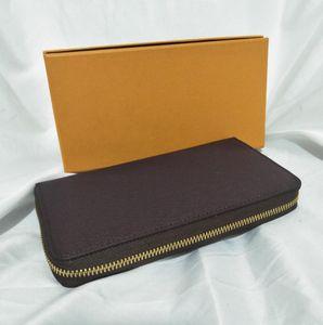 la plupart des cartes de portefeuille de fermeture à glissière à la mode et des pièces célèbres porte-cartes porte-monnaie en cuir hommes les femmes de la bourse de monnaie porte-monnaie