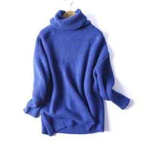 Le donne di grande misura di base lavorato a maglia maglione dolcevita femminile Solid Dolcevita Pullover Collar Warm Drop Shipping