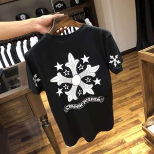 Sommer beliebte logo neue Kurzarm T-shirt crowe Herz Sanskrit Kreuz drucken casual T-shirt für Männer und Frauen