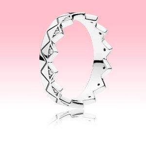 Jóias NOVO Geometric Crown Anel Mulheres dos homens do partido com a caixa original para Pandora 925 Sterling Silver alta qualidade Anéis set