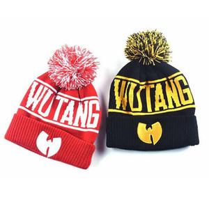 Wutang Gorros Hat Moda Unissex Inverno Quente Hip Hop Malha Chapéus criativa Pon Soft Cap Pom exterior Ski Cap TTA1622