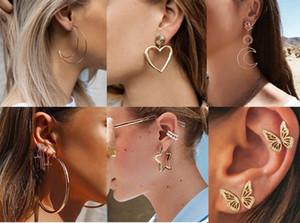 Street Style géométrique long Boucles d'oreilles Coeur Etoile Moom Stud Oreille géométrique Boucles d'oreilles Parti bijoux de mariée bohémiennes Boucles d'oreilles