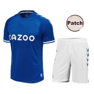 adult Kids 20 21 Everton blue soccer jersey SIGURDSSON RICHARLISON ANDRE GOMES WALCOTT 2020 2021 Everton home Football Shirts sets uniforms
