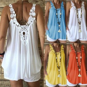 Ladies wear vest suspenders lace solid color loose sexy fashion large size shirt wholesale and retail S-5XL