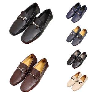 2020 Nouveau mode Ferragamo Chaussures Hommes fœur Mocassins cuir Instagram Véritable Casual Slip-on plate-forme de conduite Homme Lumière Brogue Chaussures avec boîte