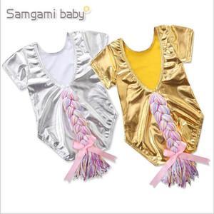 Unicornio del bebé muchachas de la ropa de verano Cola de caballo mamelucos Toddle de dibujos animados mono Ins recién nacidos Moda Onesies infantil ropa para bebés ropa B4479