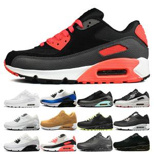 nike air max 90 Mens preto vermelho tênis clássicos mulher triplo preto branco amarelo azul sapatos de treino mens velocidade ao ar livre caminhadas sapatos de corrida atlética