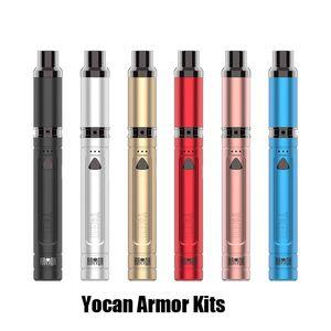 Authentic Yocan Armor Kit Ultimate Portable Vaporizer Pen for Concentrate 380mah preheat Battery Vape Kits QDC Technolog 100% Original