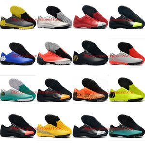 2019 hommes chaussures de football bas Mercurial VAPORX 12CLUB TF crampons de soccer intérieur chaussures de football Mercurial Superfly CR7 scarpe da calcio