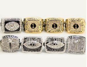 Acciaio inossidabile 18k uomini di alta qualità placcatura Champion Fantasy Football americano anello di rugby di campionato della lega Anelli