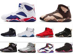 7s 7 erkek kadınlara basketbol ayakkabıları saf para Bunny tavşan yırtıcı kuş fransız mavi Bordo Hot Lava Verde siyah, kırmızı, beyaz, mavi ayakkabılar 40-47