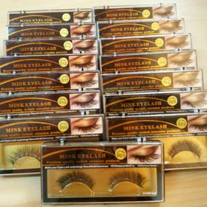 3D vison faux cils longs épais vison naturel cils à la main faux cils yeux maquillage outils 1 paire RRA944