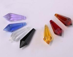 Freeshipping 300pcs смешанного цвета 38мм кристалл сосулька призма U падение кулон клиент может выбрать специальные цвета