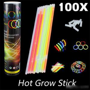20 cm multi colore hot glow stick braccialetto collane neon party LED lampeggiante bacchetta bastone novità giocattolo LED concerto vocale LED flash stick