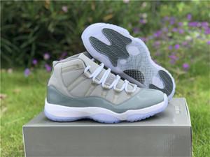 Alta Qualidade New Cinza frio 11 11s Mens tênis de basquete Estilo Código 528895S-003 XI Outdoor Sports Sneaker Size US7--13